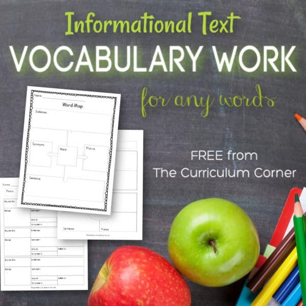 Nonfiction Vocabulary Work