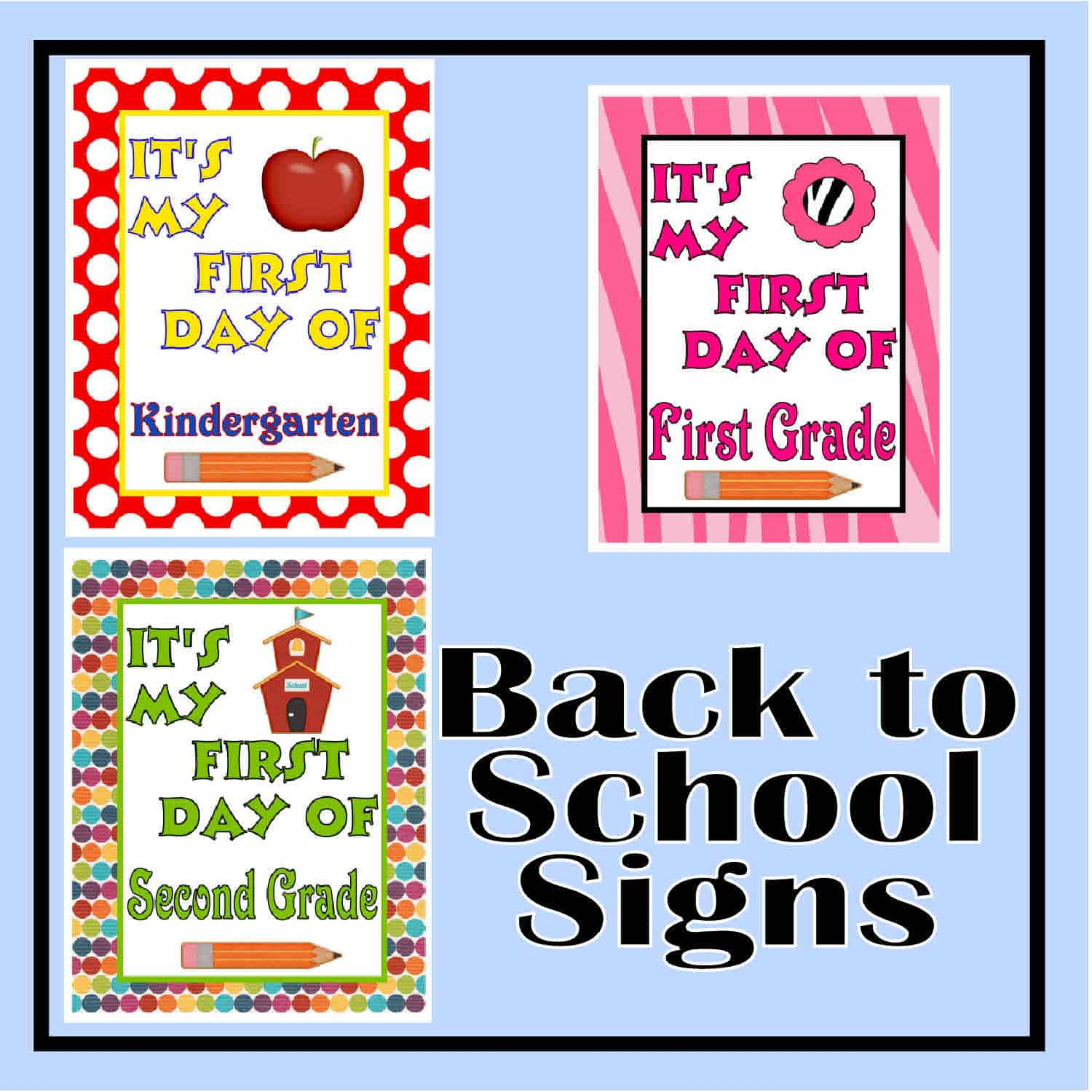 image regarding First Day of Second Grade Printable Sign titled 1st Working day of Higher education Signs or symptoms - The Curriculum Corner 123
