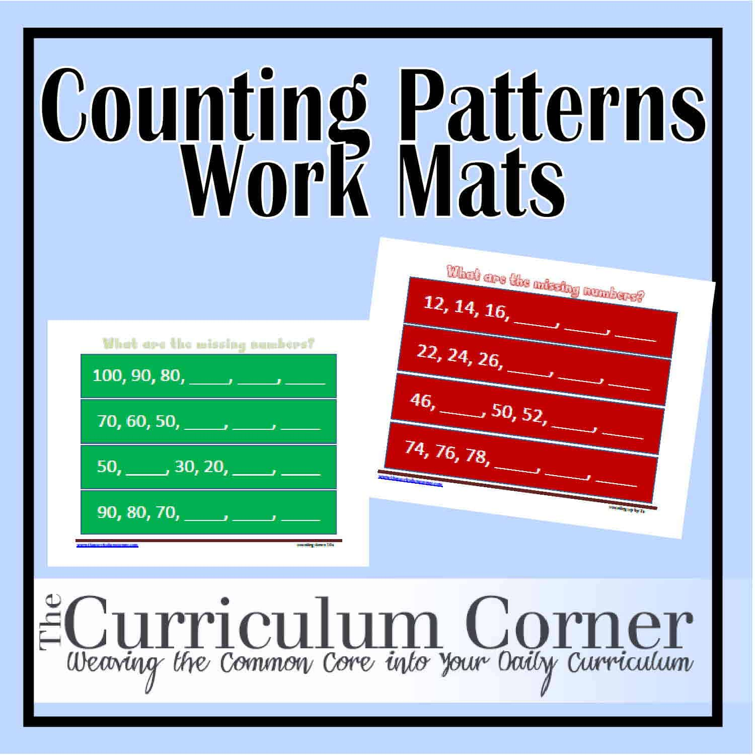 Skip Counting Work Mats