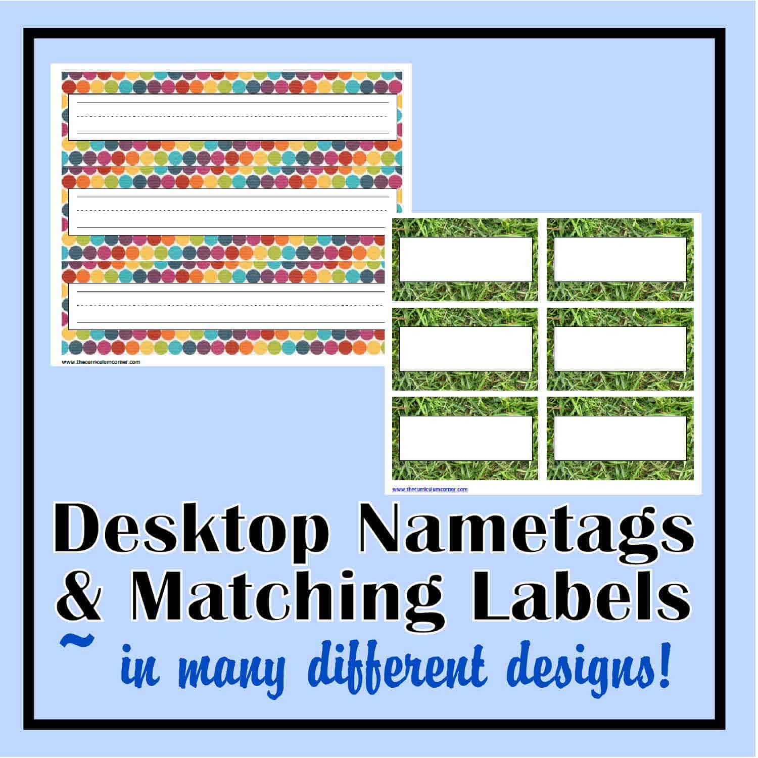photo regarding Free Printable Classroom Labels With Pictures identify Table Nametags Clroom Labels - The Curriculum Corner 123