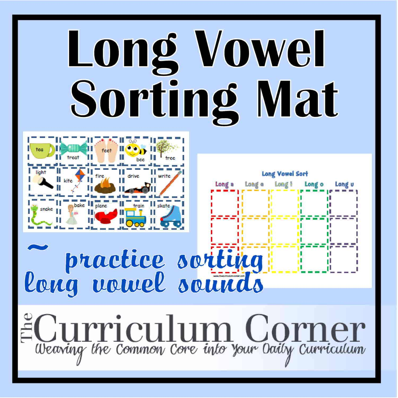 Long Vowel Sorting Mat