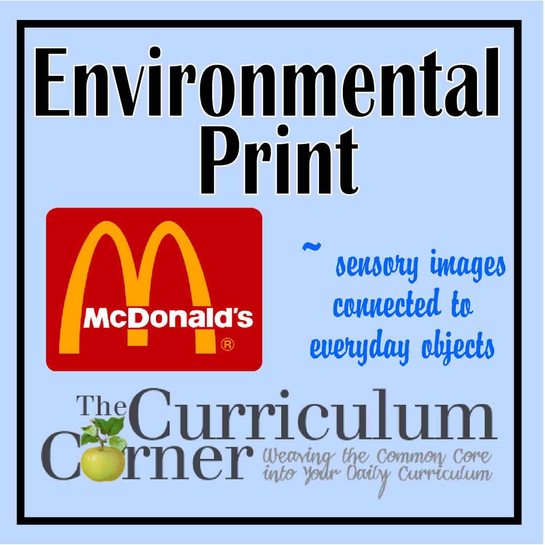 Creating Sensory Images Through Environmental Print
