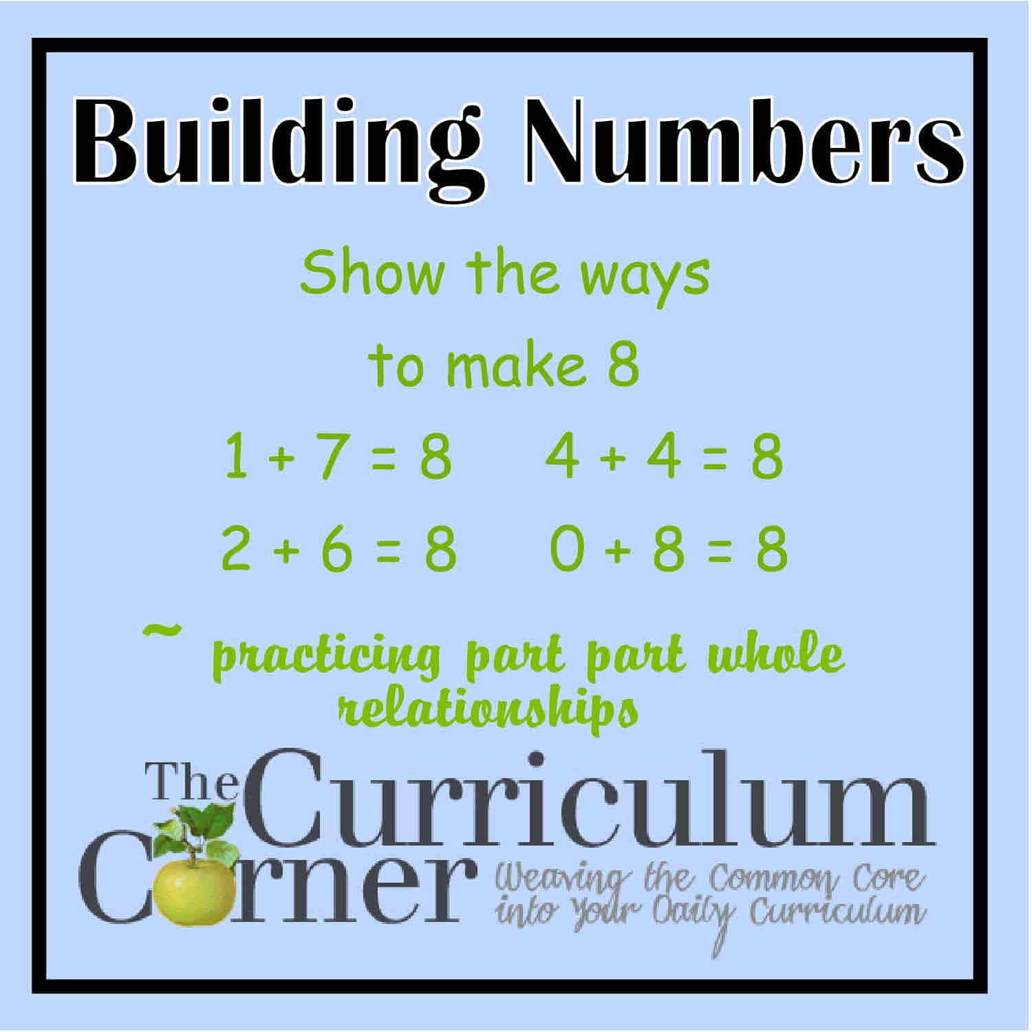 Building Numbers (addition & subtraction facts)