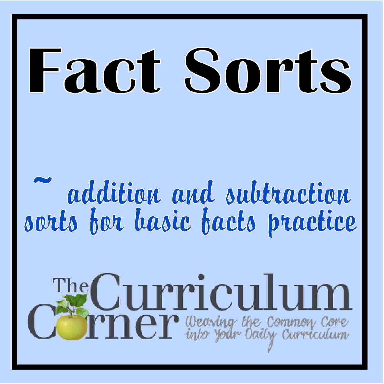Math Fact Sorts