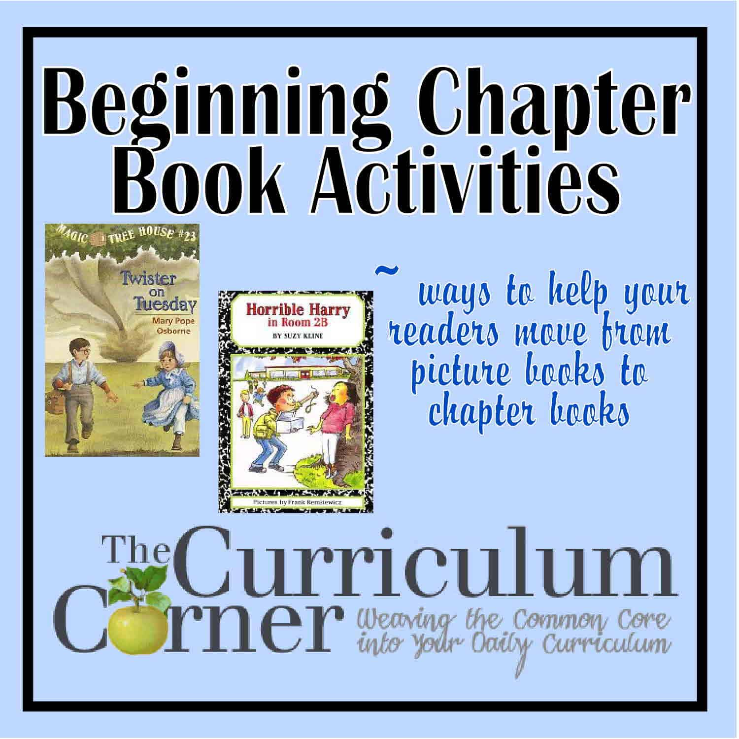 Beginning Chapter Book Activities