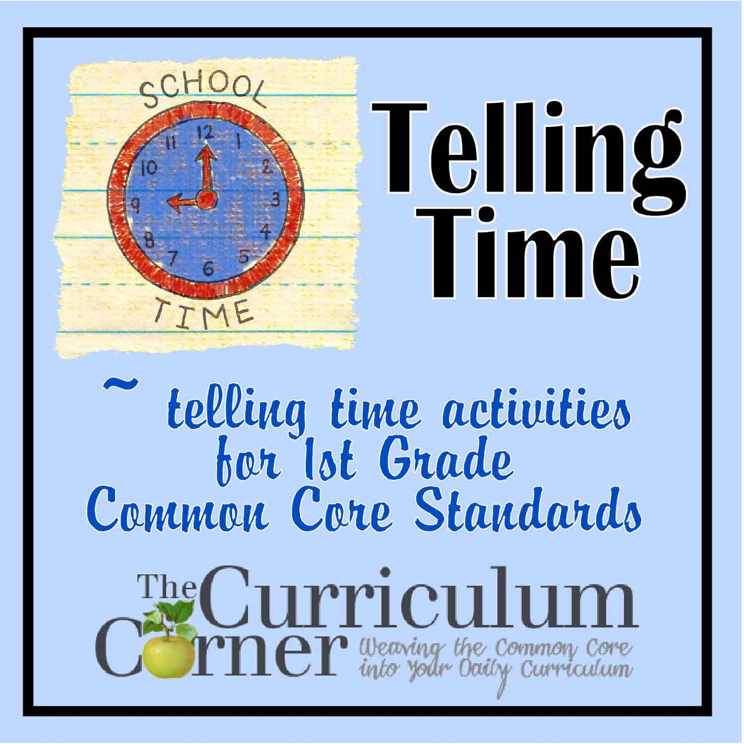 Telling Time 1st Grade