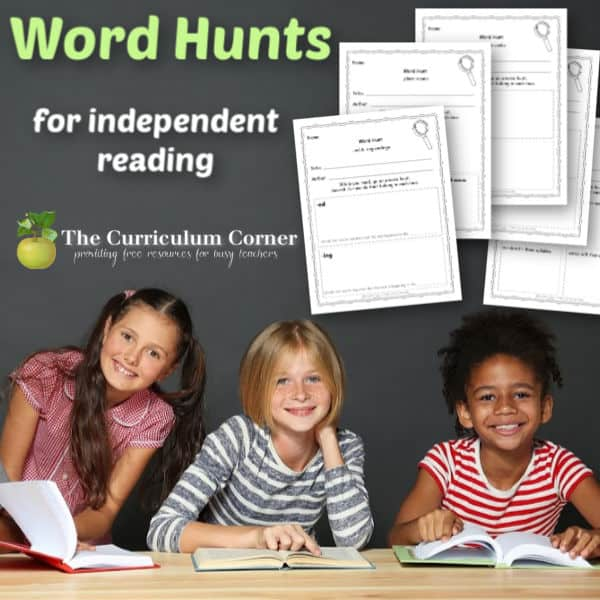 Word Hunts for Independent Reading