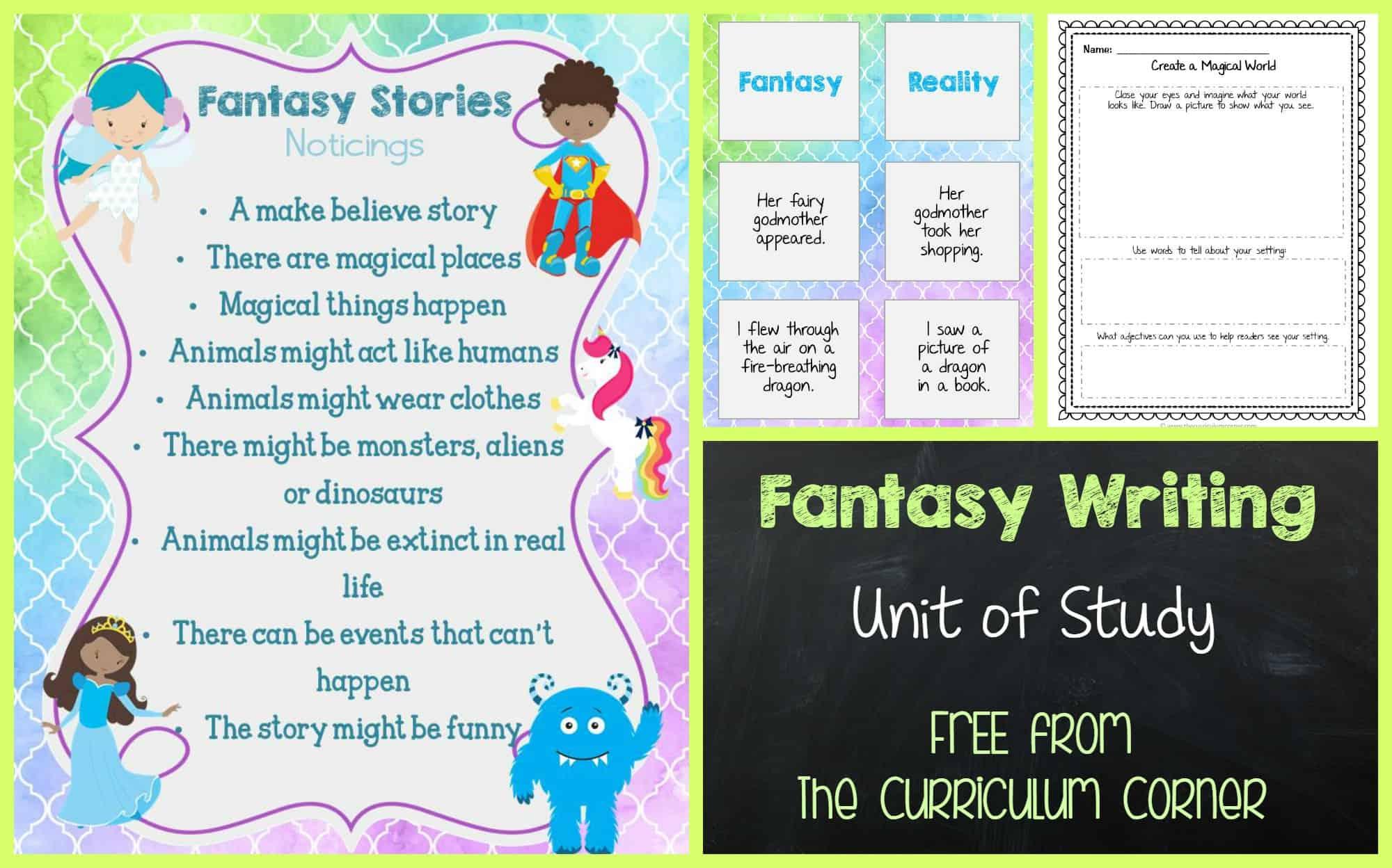 fantasy writing unit of study