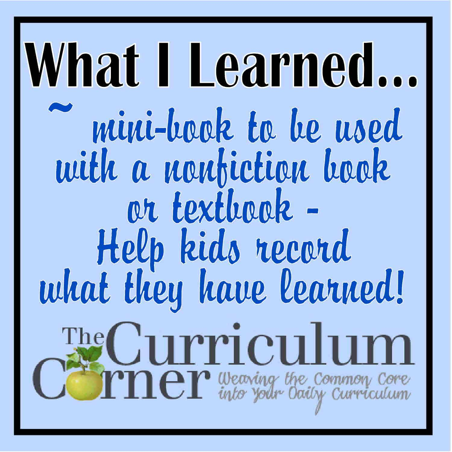 What I Learned… Nonfiction Booklet