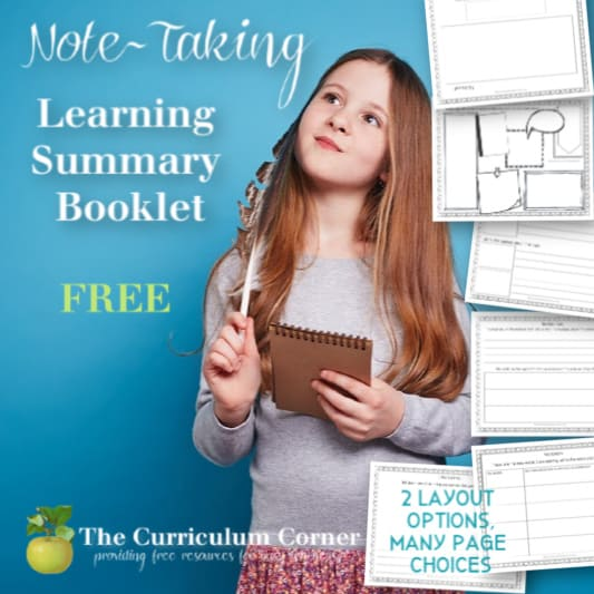 Note-taking: Learning Summary Booklet