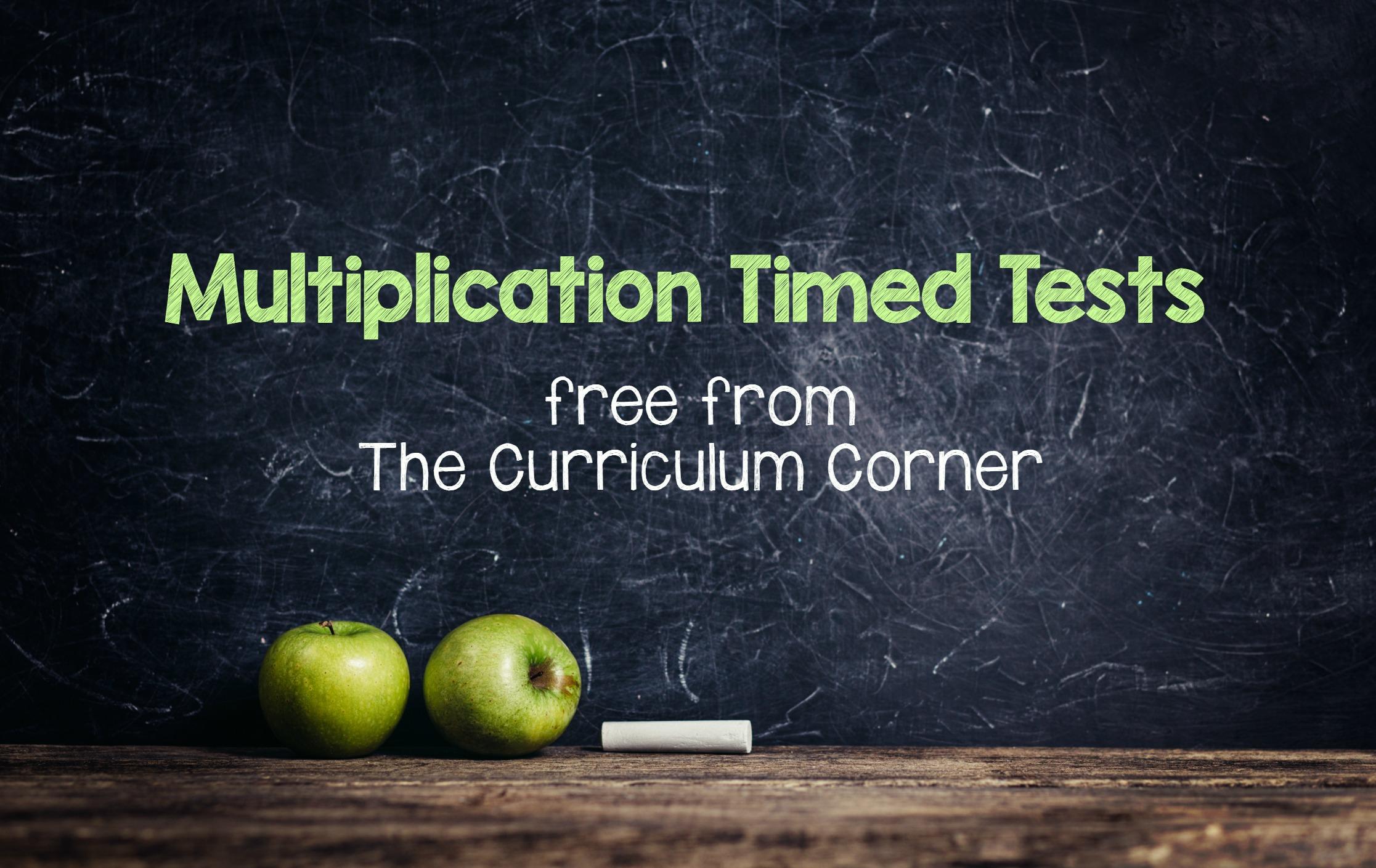 worksheet Multiplication Timed Tests multiplication timed tests the curriculum corner 123