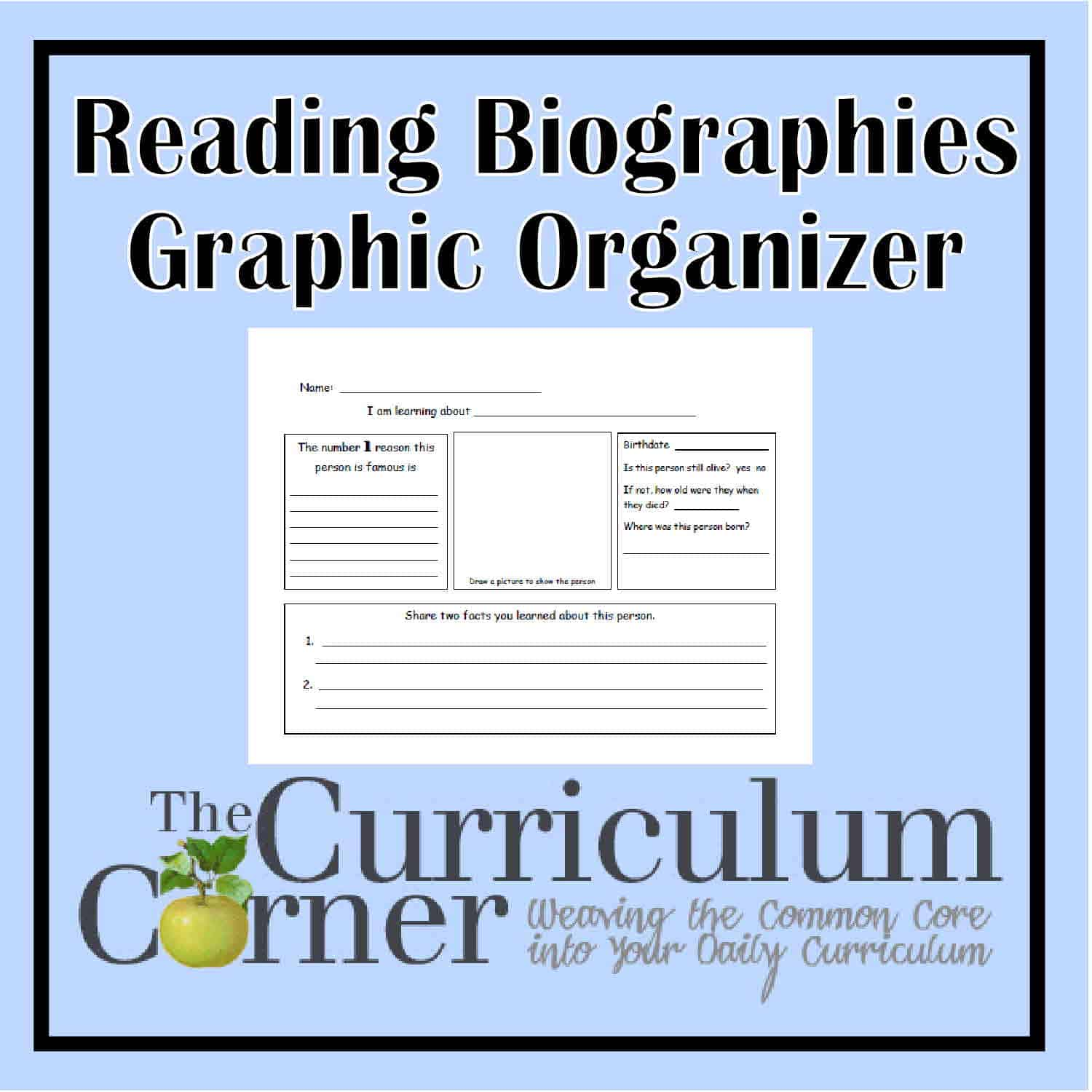 Biography Reading Graphic Organizer