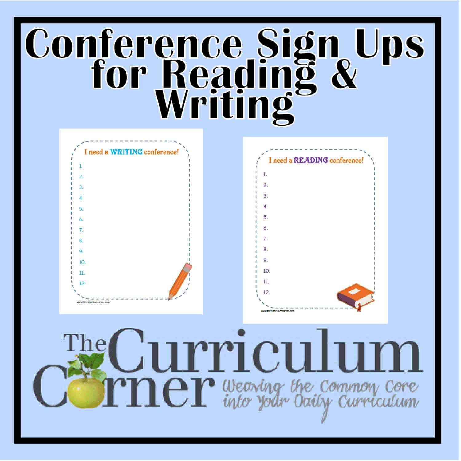 Reading & Writing Conference Sign Up Forms