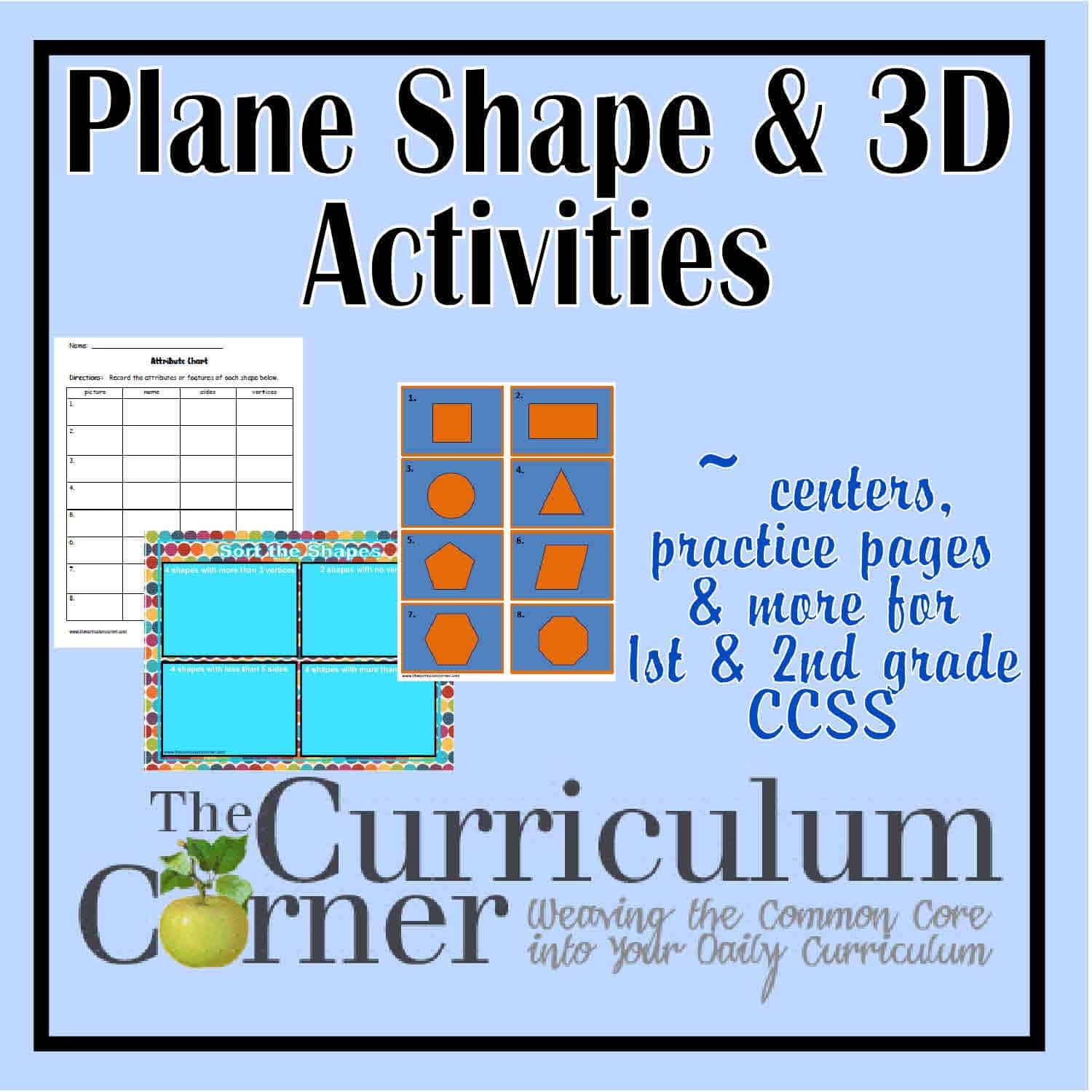 Plane & 3D Shapes Activities