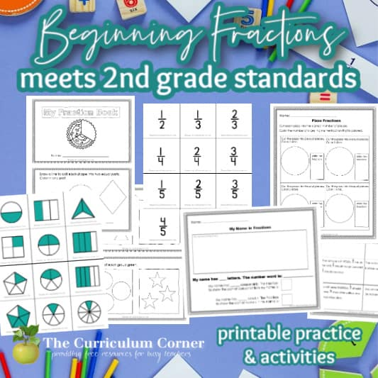 Beginning Fractions for Second Grade