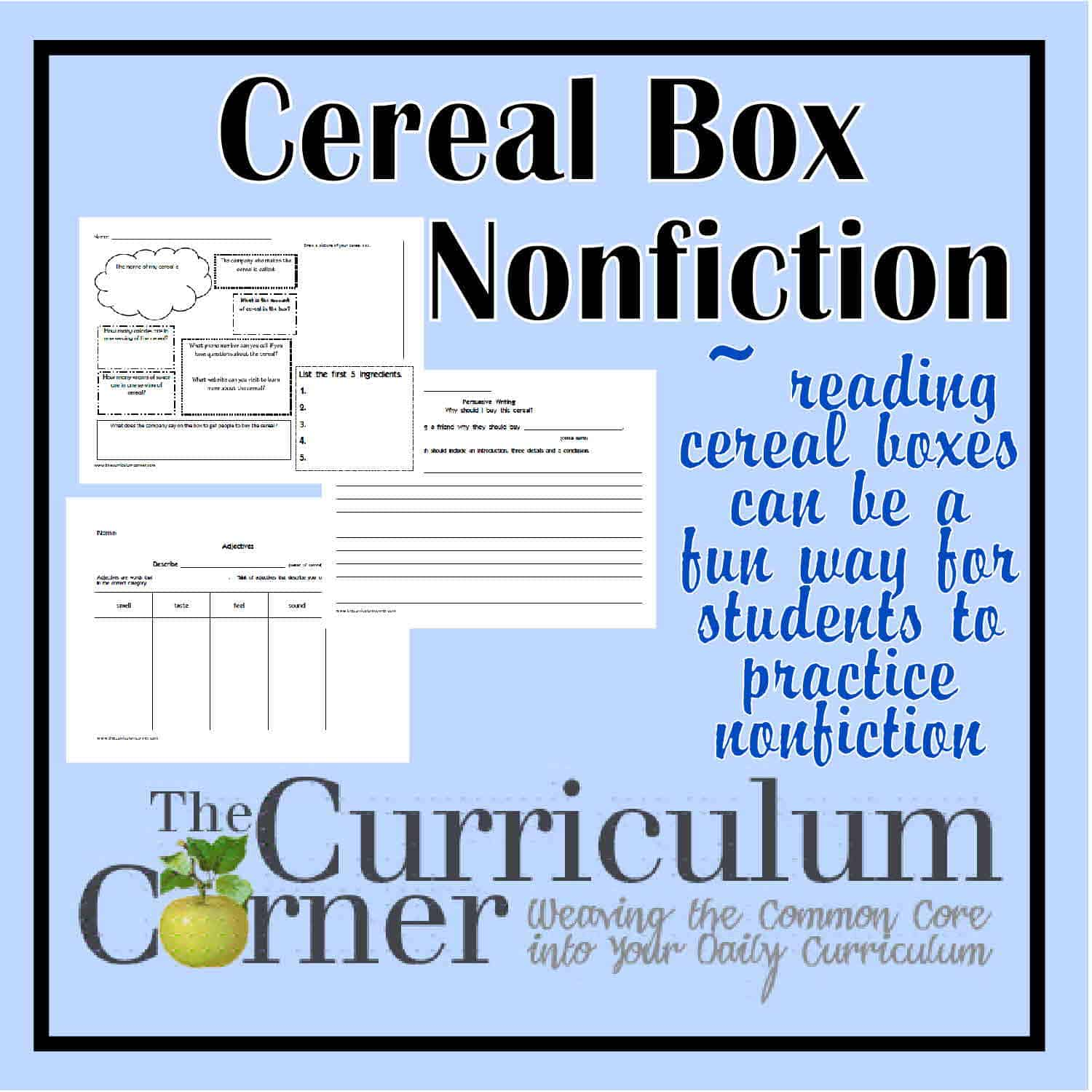Cereal Box Nonfiction
