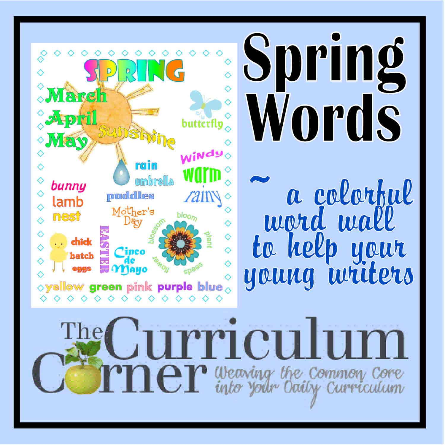 Spring Words Word Wall