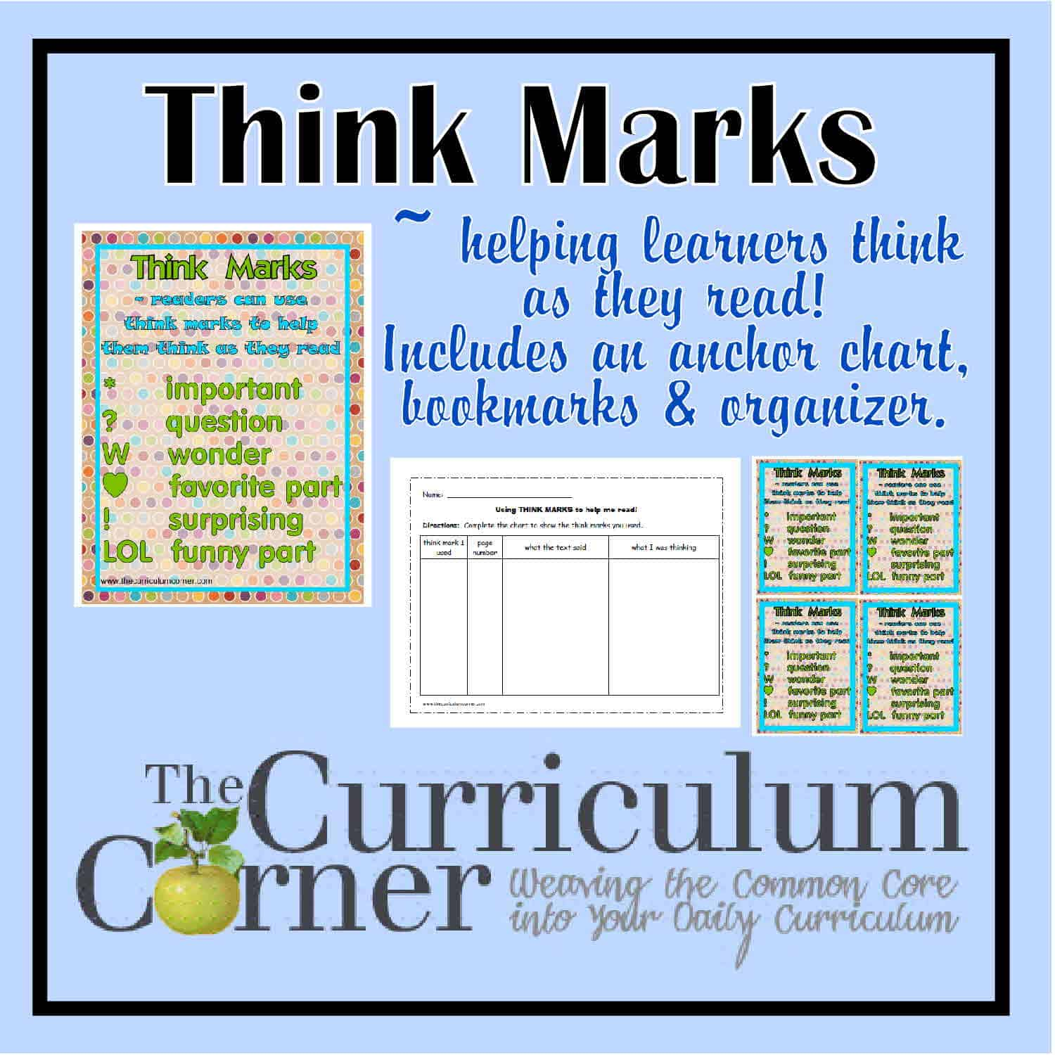 Think Marks for Reading