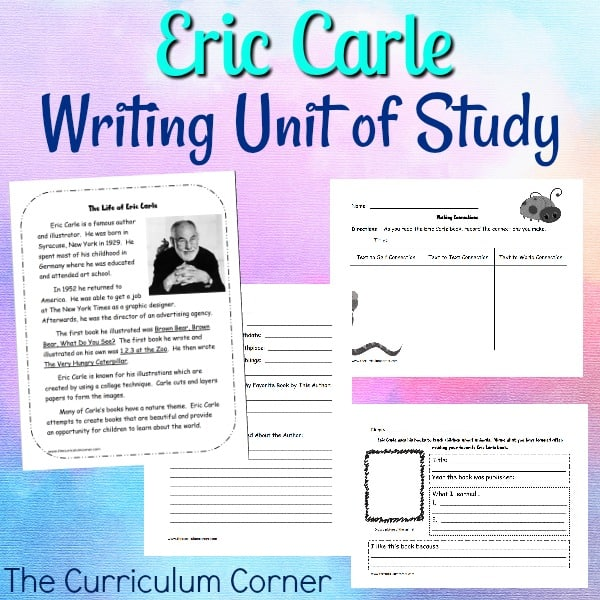Eric Carle Writing Unit of Study