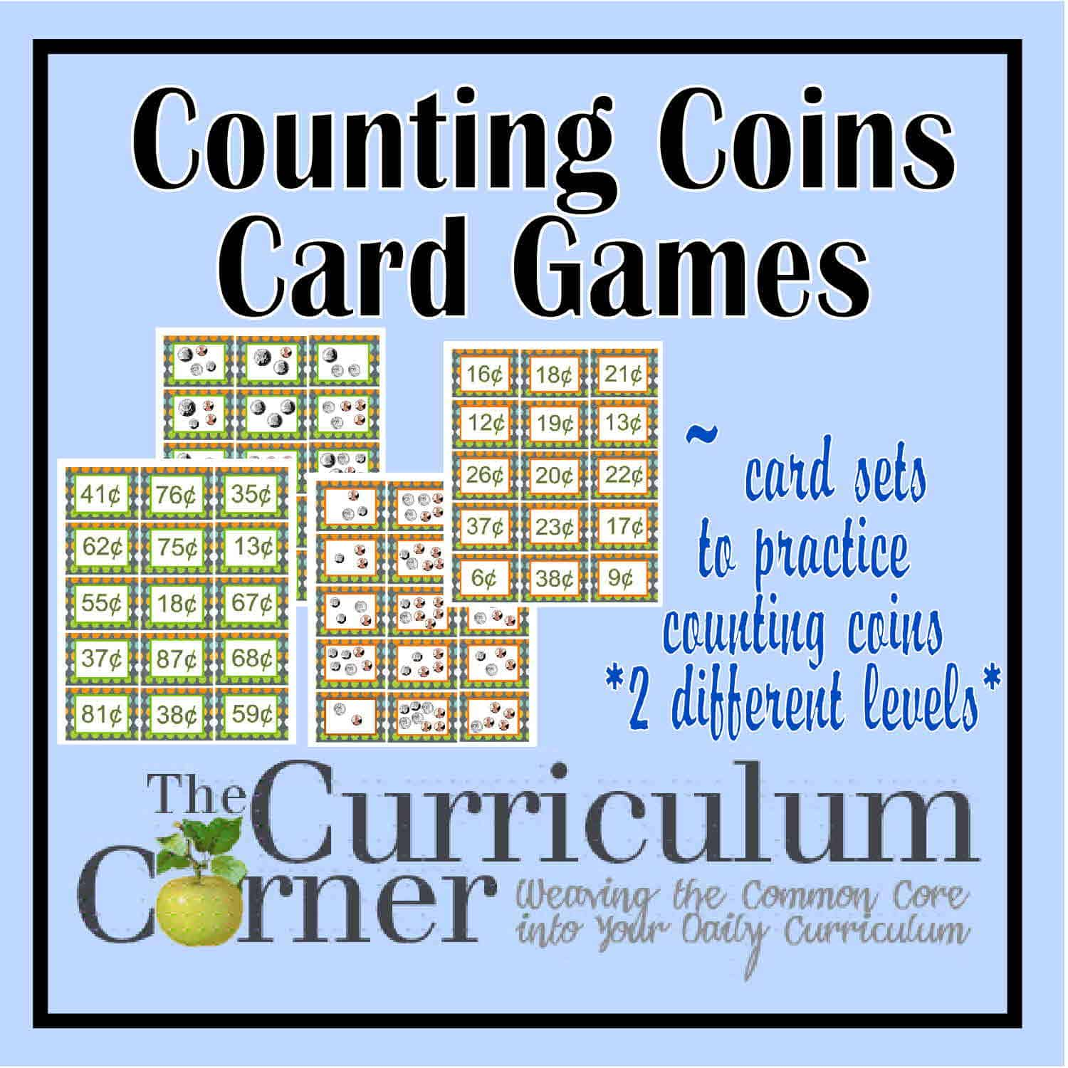 Counting Coins Card Games