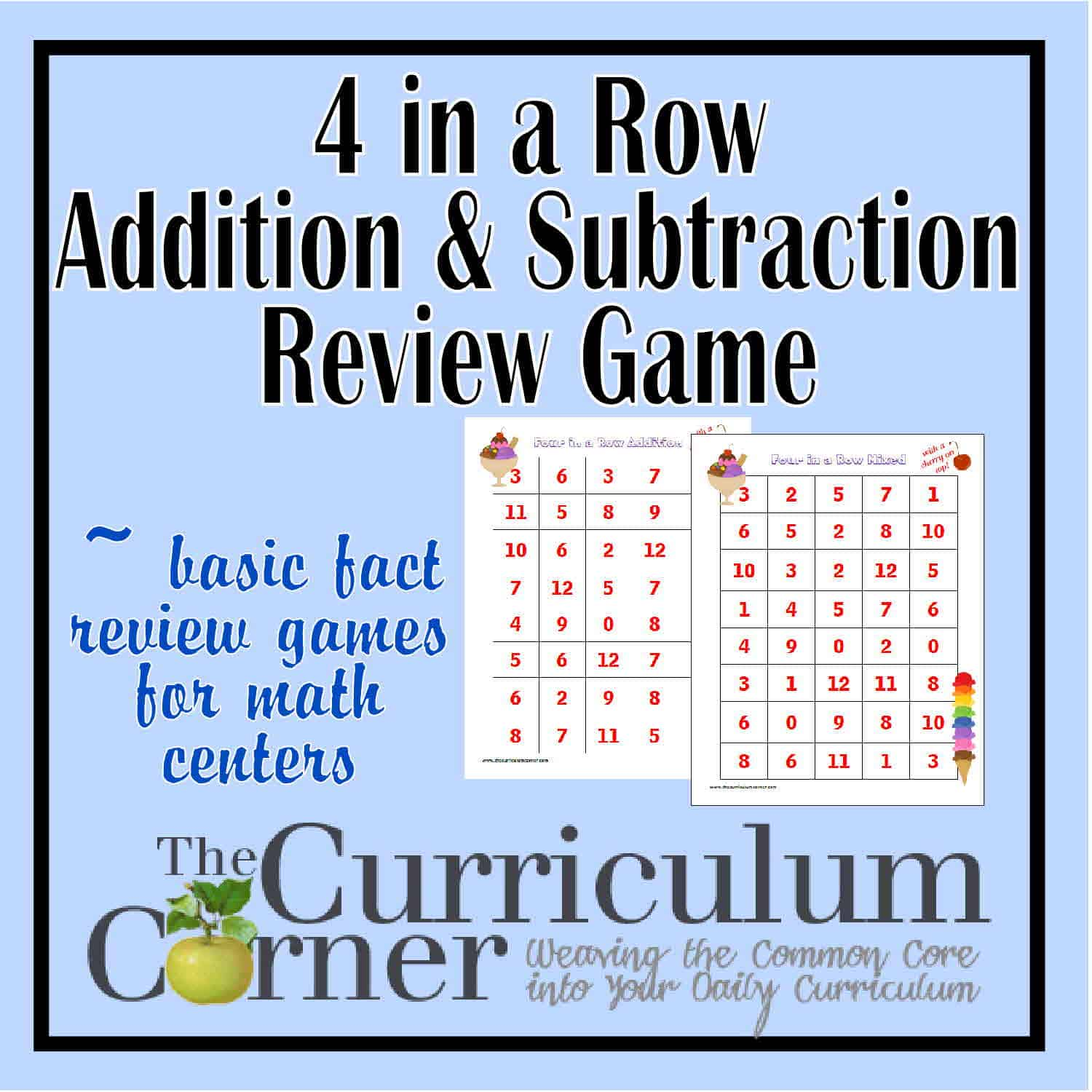 Math Facts Archives - Page 12 of 14 - The Curriculum Corner 123