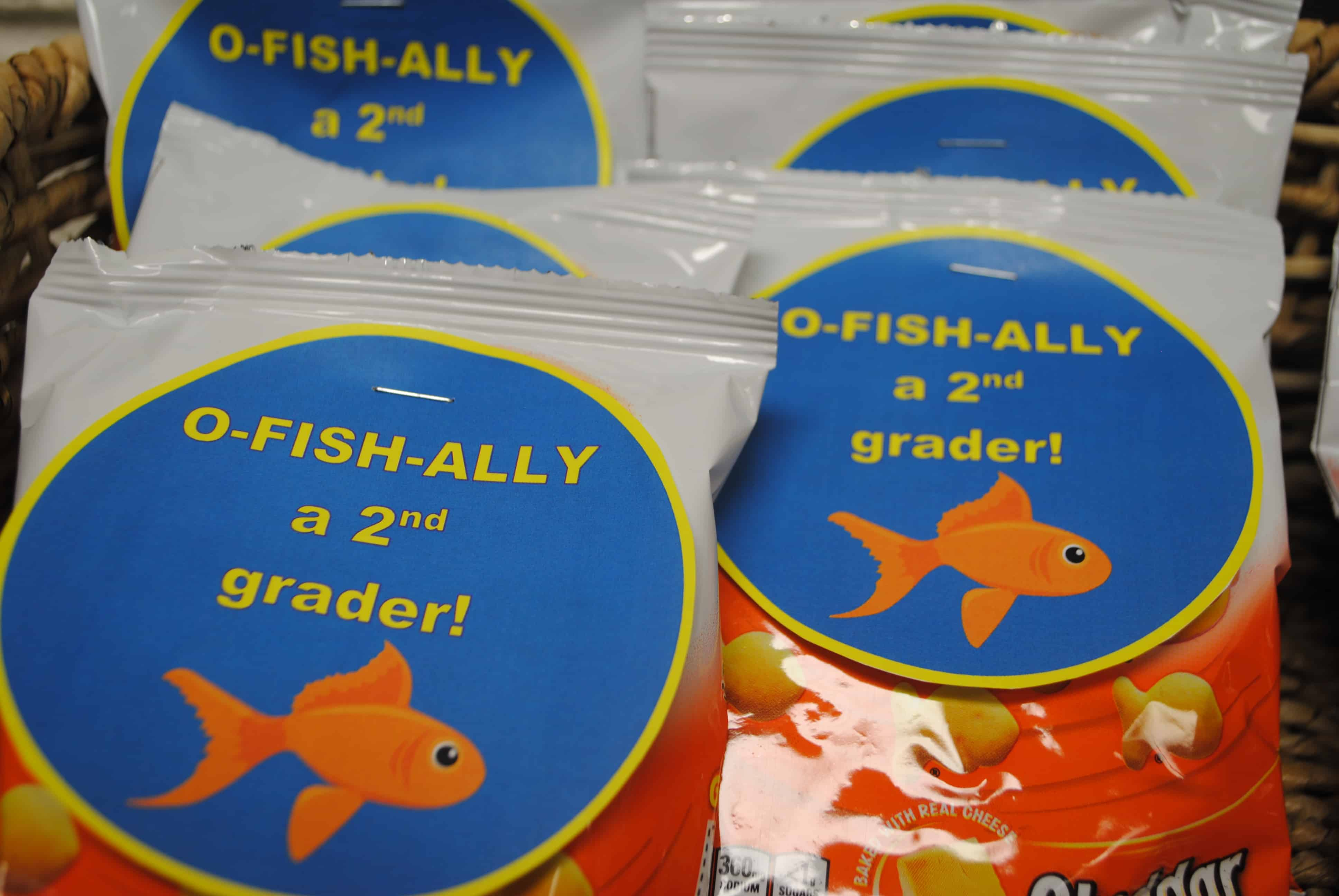 O-fish-ally in the ______ Grade Goldfish Toppers