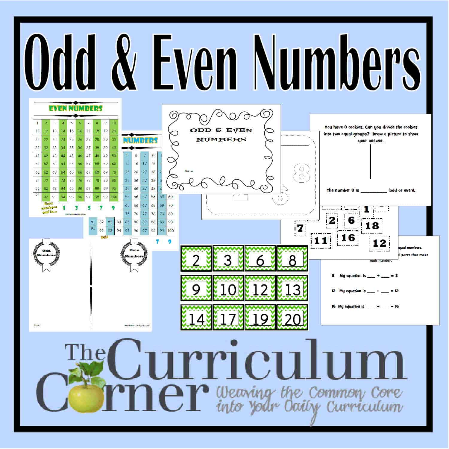 worksheet Even And Odd Worksheets For 2nd Grade odd and even numbers the curriculum corner 123