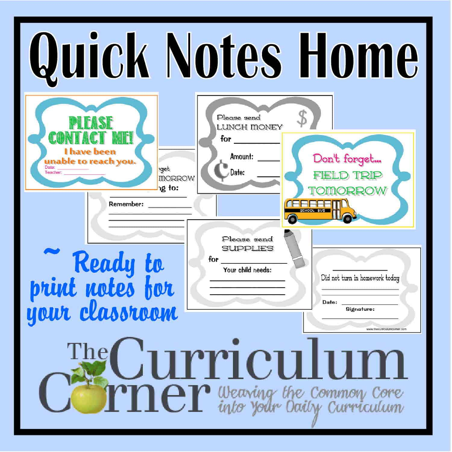 Quick Notes Home