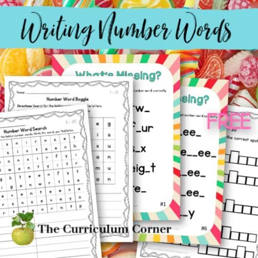 Spelling Number Words 1 – 20