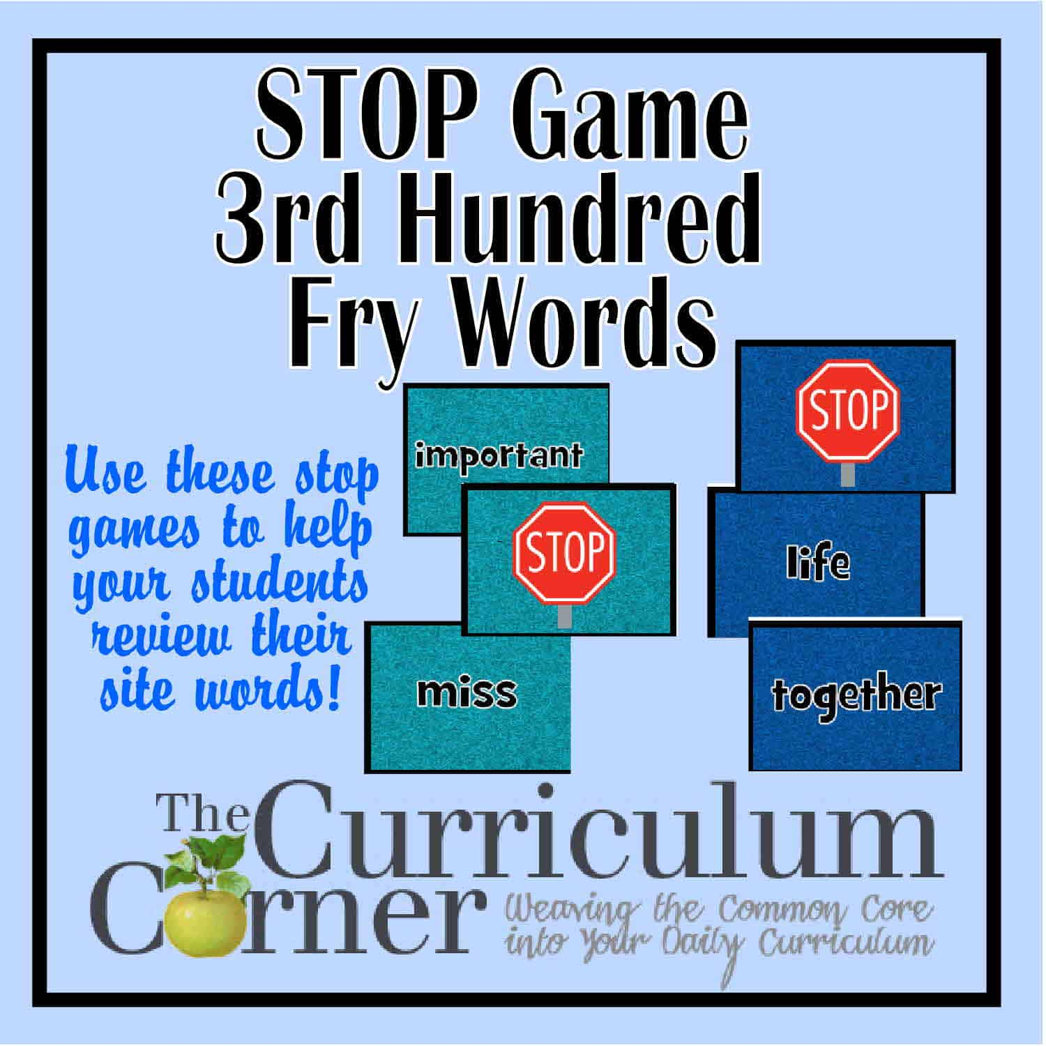 Stop Game – 3rd Hundred Fry Words