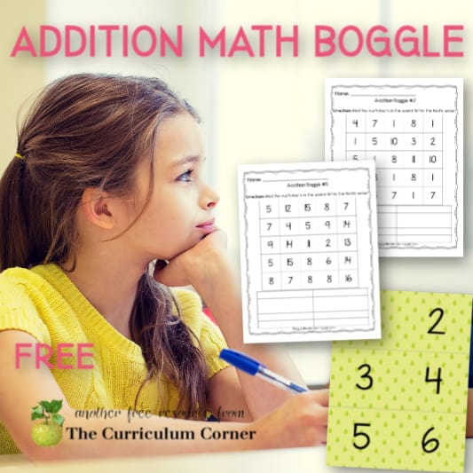Addition Boggle Math