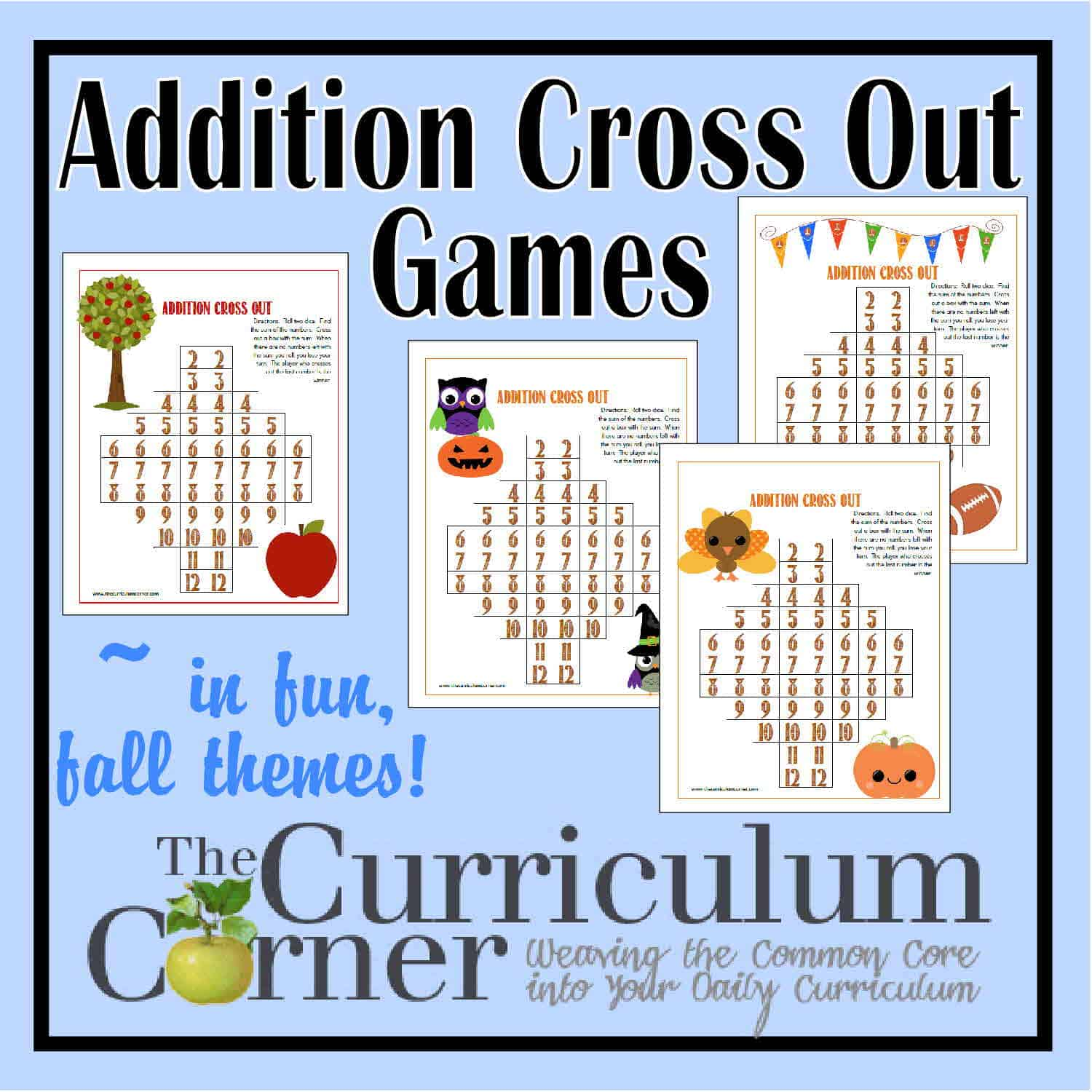 Fall Addition Cross Out Games