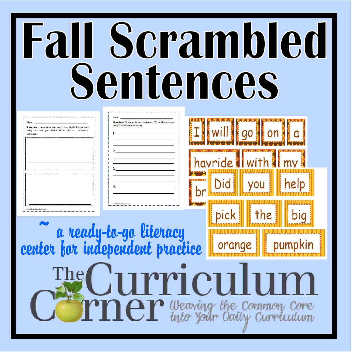 Fall Scrambled Sentences