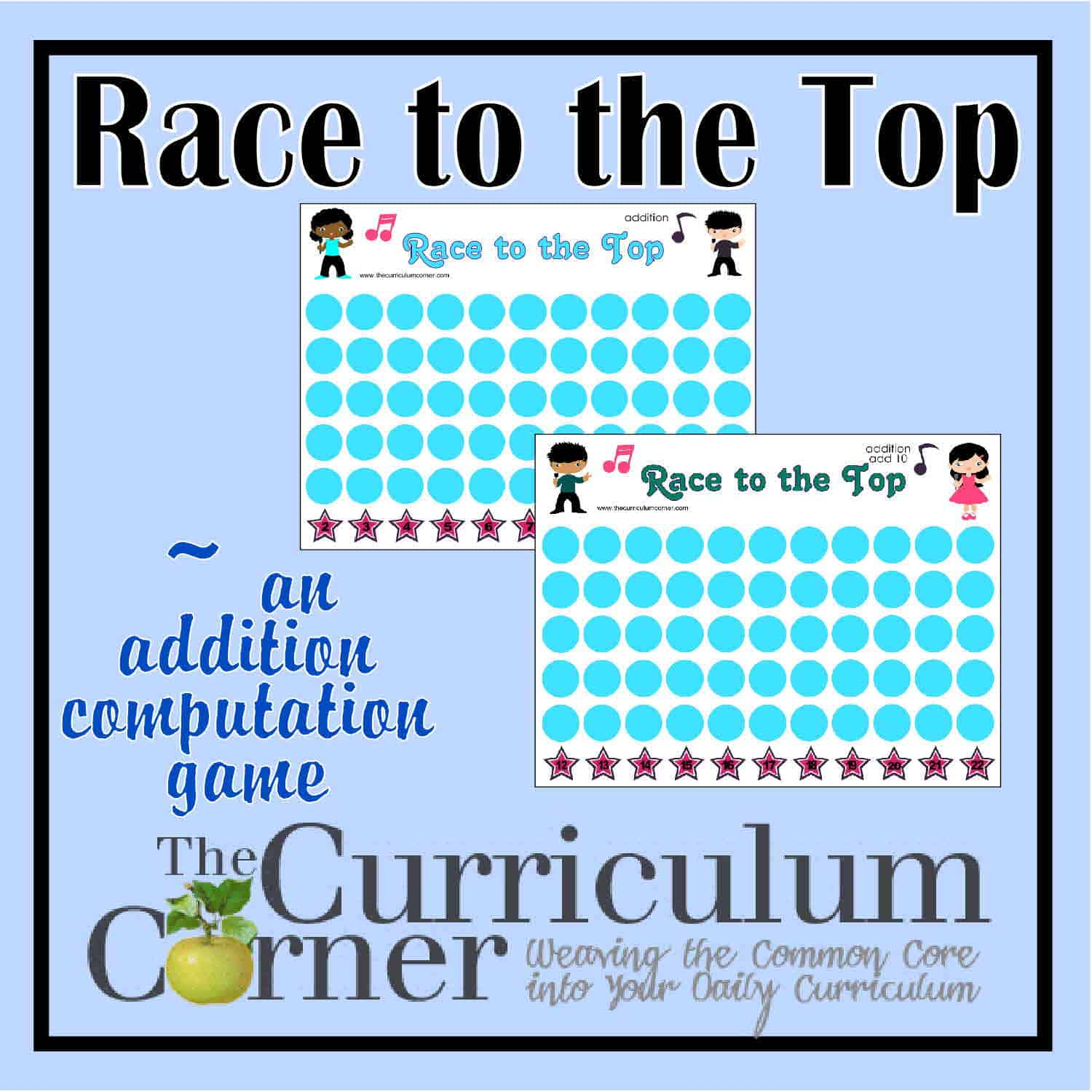 Race to the Top Addition Game