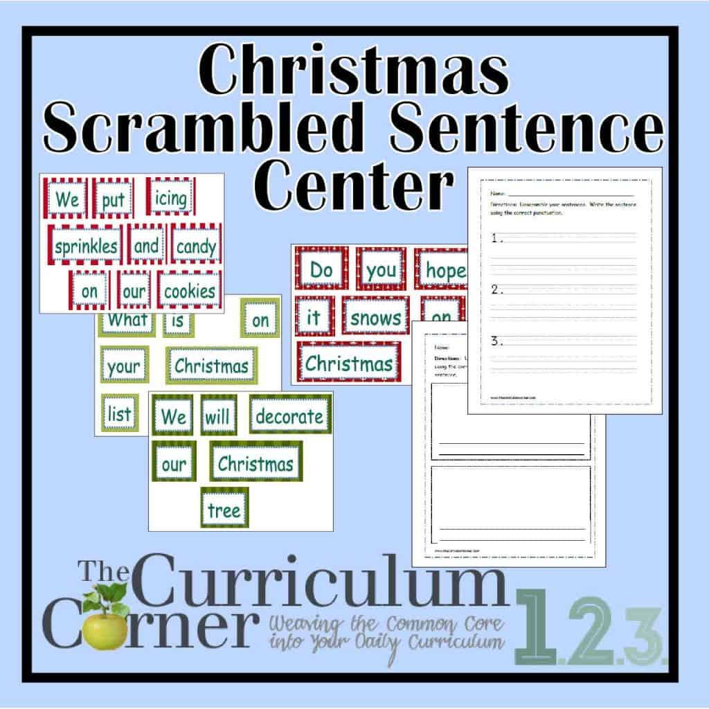 Christmas Scrambled Sentences The Curriculum Corner 123