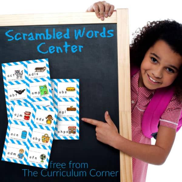Scrambled Words Center