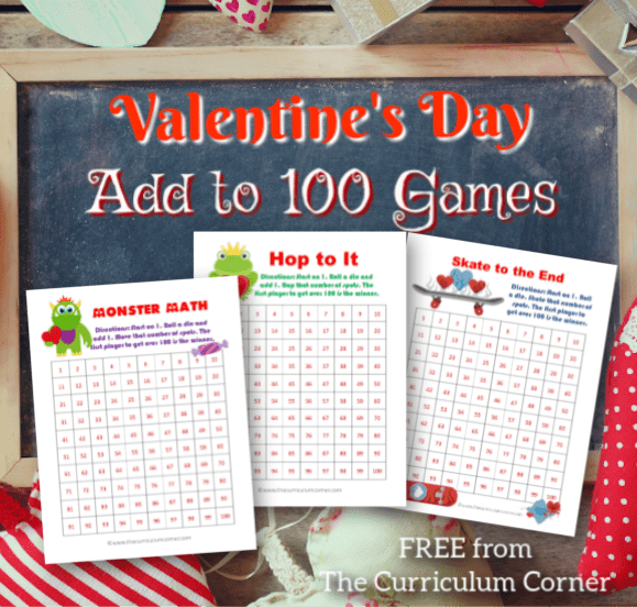 Valentine's Day Add to 100 Games