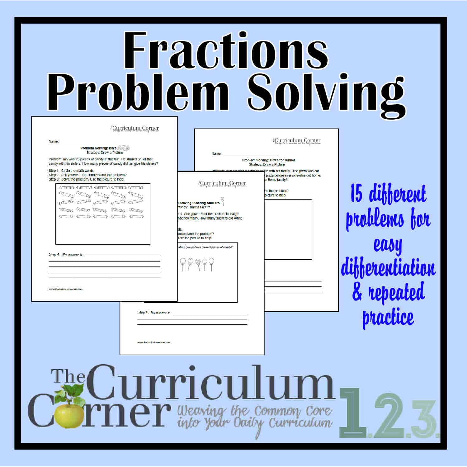 Problem Solving Involving Fractions