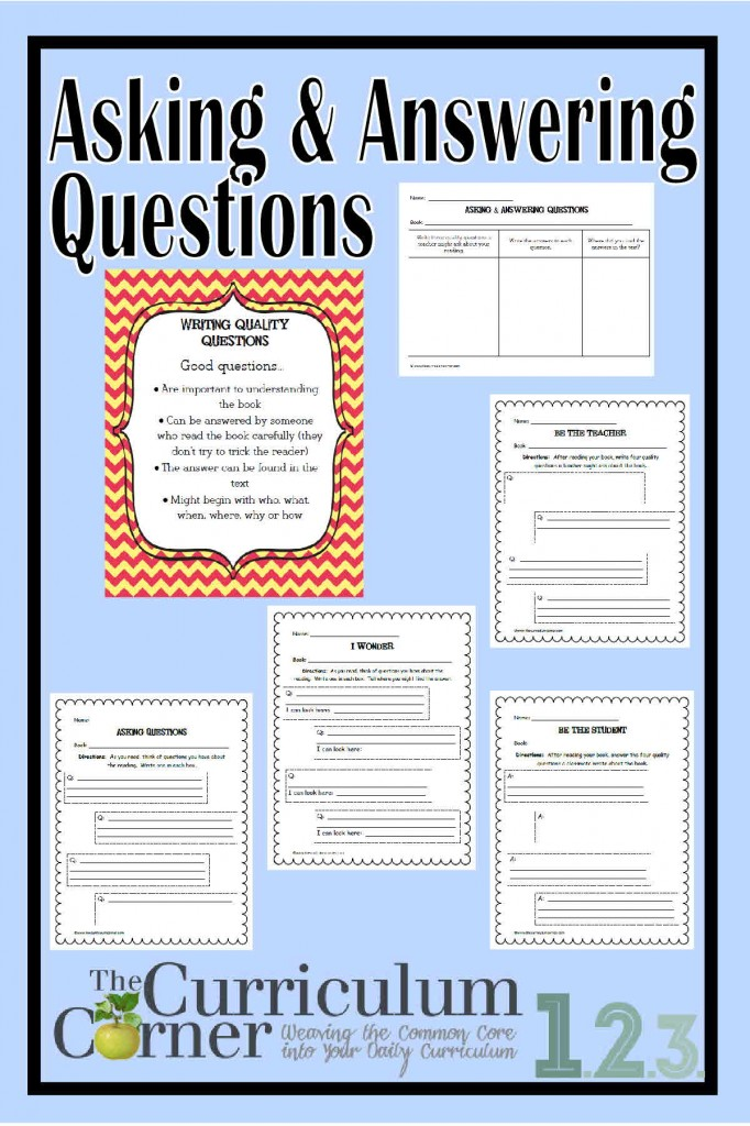 Asking & Answering Questions in Informational Text by The Curriculum Corner