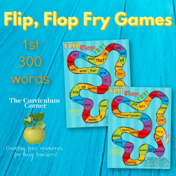 Flip, Flop, Fry!  Fry Word Games
