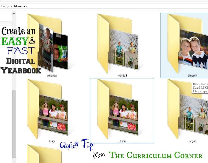 Quick Tip – EASY Digital Yearbook Idea