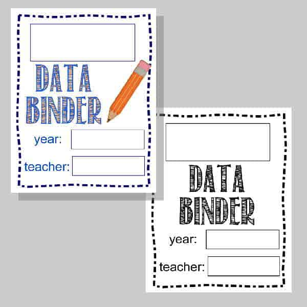 Student Data Binder Printables