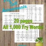 Fry Word Self Assessments