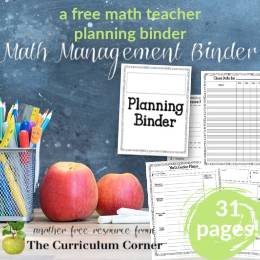 Editable Math Management Binder