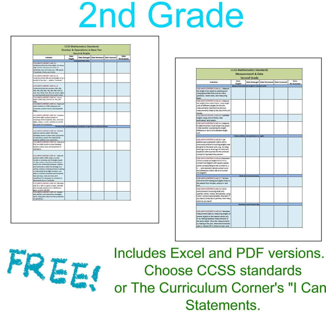 9th Grade Language Arts Worksheets Excel Updated Nd Grade Ccss I Can Checklists  The Curriculum Corner  Bill Nye Erosion Worksheet Excel with 4th Grade Point Of View Worksheets Pdf  Bike Safety Worksheet