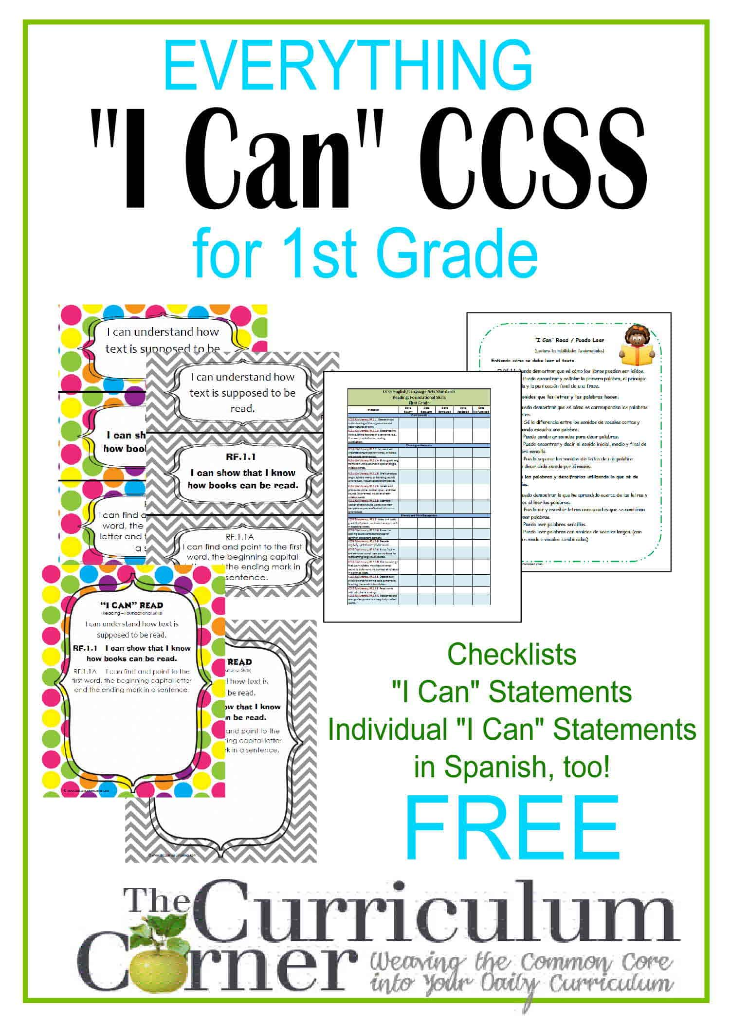 First grade ccss math worksheets