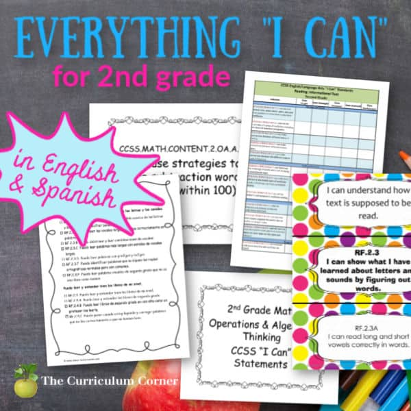 "Everything ""I Can"" Common Core for 2nd Grade"