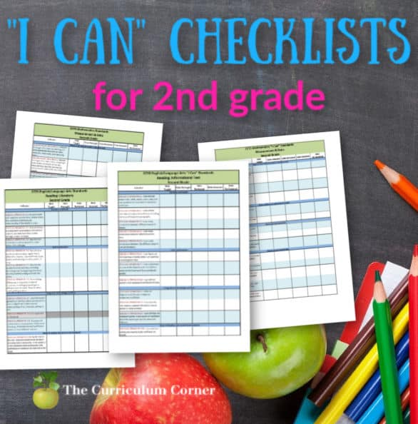 "Updated 2nd Grade CCSS ""I Can"" Checklists"