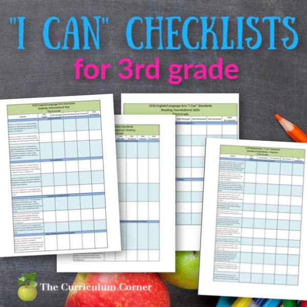 "Updated 3rd Grade CCSS ""I Can"" Checklists"