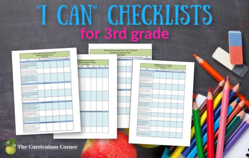 "1st Grade ""I Can"" Checklists"